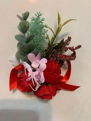 Corsages and Boutonniere Artificial Flowers Wedding Bouquet Bridesmaid Groomsman