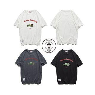 『誰合普UHF®』合作品 美式印花 百搭短袖上衣 男女皆可。3色 (網路特賣價$750)起標價=直購價