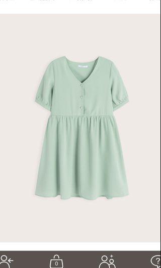 🚚 青綠色短洋裝