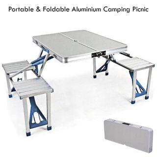 Free Delivery - Outdoor Portable Aluminium Camping Picnic Table