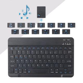 7 inch Charging Mini Ultra-Thin Dustproof Wireless Bluetooth Keyboard  (IOS, Android, Windows)