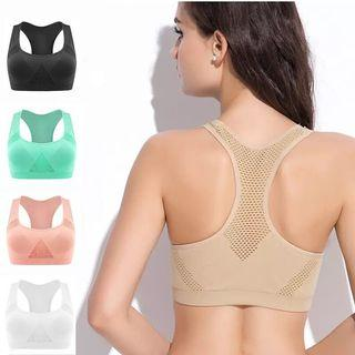 (PO) M-XL Professional Absorb Sweat Top Athletic Running Sports Bra , Gym Fitness Women