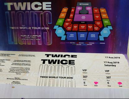 TWICELIGHTS 307 VIP Tickets MY