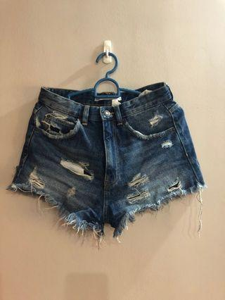 Zara Trafaluo Ripped Denim Shorts