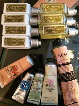 L'occitane, Crabtree and Evelyn, Aesop