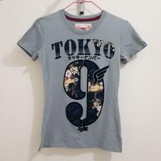 Grey T-shirt (TOKYO #9) 灰色上衣 修身