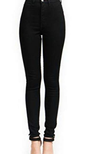 Hw jeans hitam ukuran 27