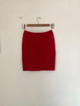 Witchery red skirt