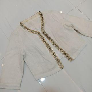 Korean Blazer White