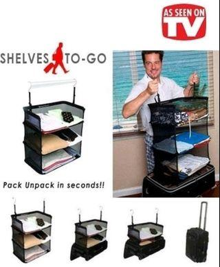 Shelves-To-Go Packable Suitcase Shelves