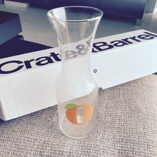 Orange juice glass jar - Crate & Barrel