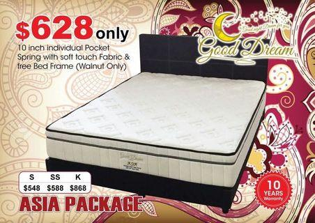 Queen Size Mattress (FOC Bedframe)
