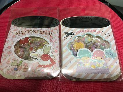 Sanrio Stickers Little Twin Stars / Marron Cream 25pcs