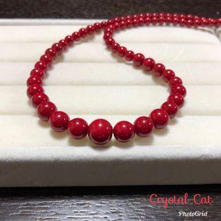 紅珊瑚阿卡塔鏈
