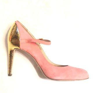 Sergio Rossi EU38 spring pink and gold metal heels