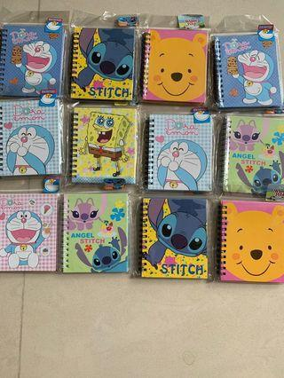 🚚 BN mini note book for writing total 12pcs