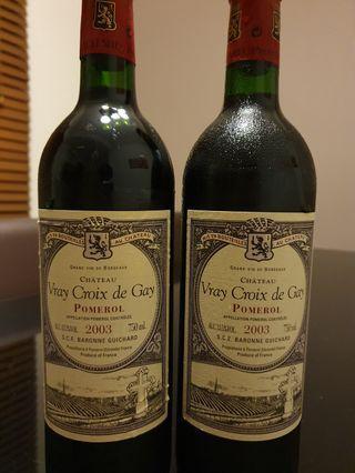 Pomerol Wines 2003