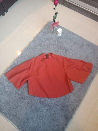 Khaki Bell Sleeves Loose Blouse #MGAG101