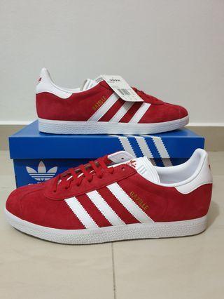 BNIB NEW Authentic Adidas Originals Men's Gazelle Red US9.5 & US10