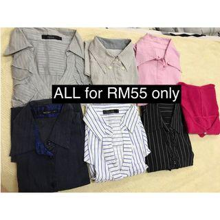 Preloved 7 pcs of Ladies office wear ALL RM55 only