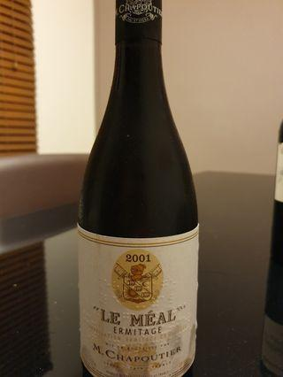 Hermitage wine- Chapoutier Le Meal 2001