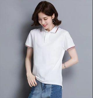 Lady White Polo-T Size S