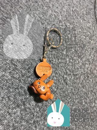 Brown Rabbit Keychain