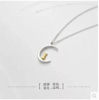 🚚 925純銀項鍊 月亮兔子 鎖骨鍊