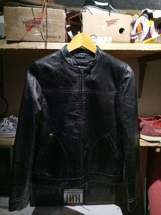 Jaket kulit asli Giordano jeans company