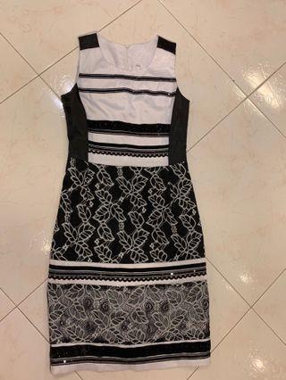 Beautiful Black And White Lace Dress