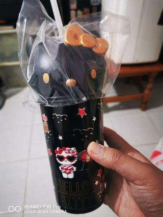 Black Hello Kitty Cup from Golden Village.