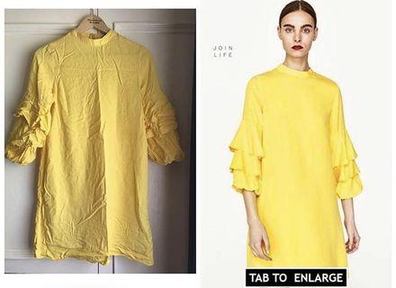 Zara Frilled Tier Sleeve Dress