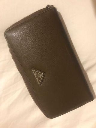 Prada miror wallet leather