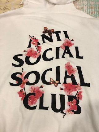 Anti social social club kkoch white hoodie