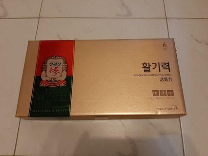 韓國正官莊 六年以上紅參  即食補充劑                           200ml x 10支