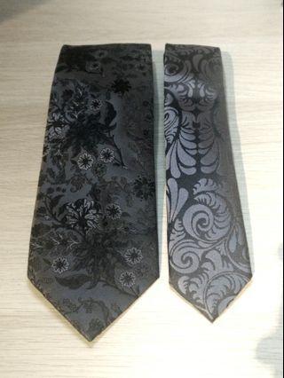 Black Grey tie