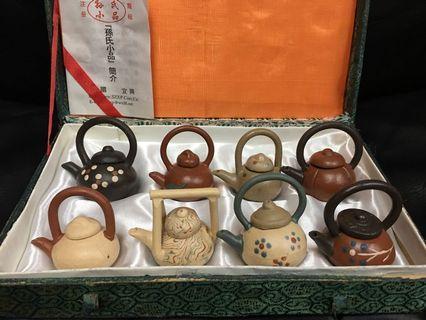 紫砂工藝迷你茶壺一套8件 [孫氏小品](H) #MTRtst