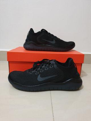 BNIB Authentic Nike Men's Free Rn 2018 Triple Black US9 / UK8