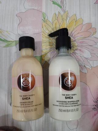 Body Shop Set (shower cream and lotion)