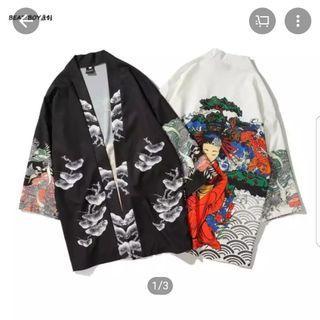 Kimono casual model Ukiyo-e/Ukiyoshi/Hokusai style