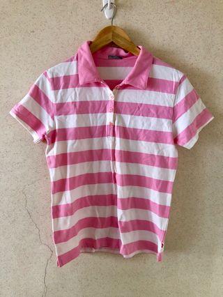 Hang Ten Striped Polo Shirt