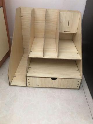 木質桌面收納盒抽屜