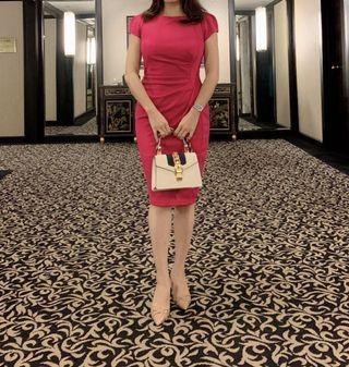 Red pink dress