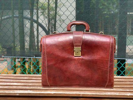 Chiarugi genuine Italian leather briefcase