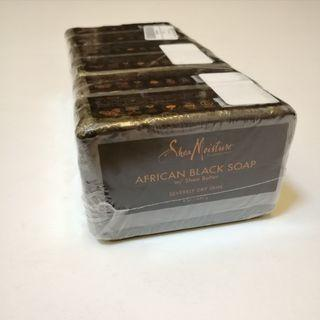 🆕 Shea Moisture African Black Soap With Shea Butter for Severely Dry Skin 8oz