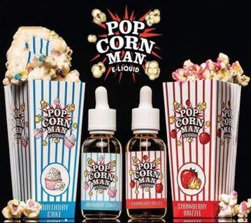 100% Original Popcorn Man Vape Juice E-Juice E-Liquid