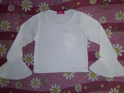 Kaos Crop Putih