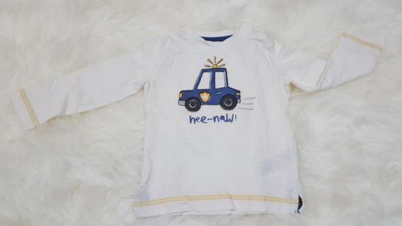 Long Sleeve Mothercare Police Car