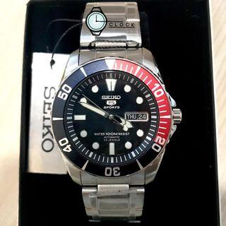 Seiko 5 Sport Style Automatic 23 Jewels Dark Blue Dial Stainless Steel SNZF15K1
