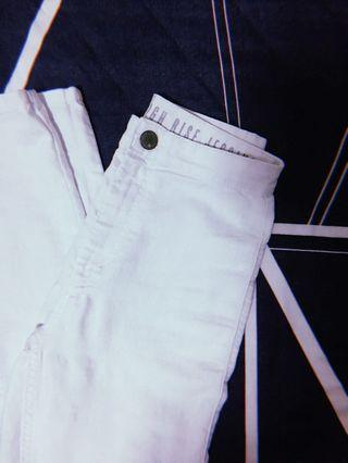 🚚 Cotton White High Rise Jeggings / Jeans